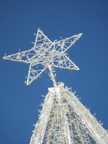 White Christmas Tree Star