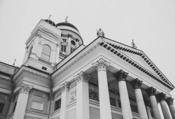 White Concrete Pillar Building
