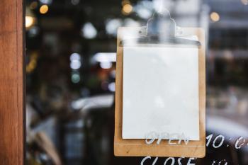 White Door Signage