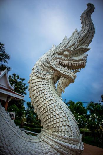 White Dragon Statue
