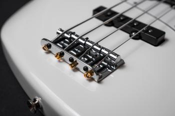 White Electric Bass Guitar