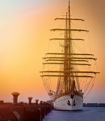 White Gallon Ship