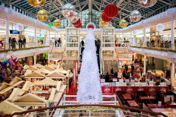 White Glass Christmas Tree