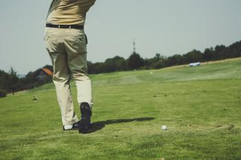 White Golf Ball on Field
