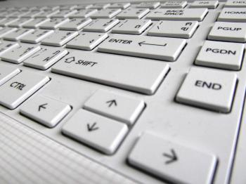 White Laptop Keyboard