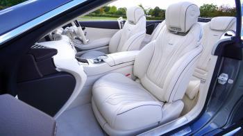 White Leather Car Bucket Seat