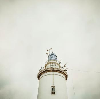 White Light House Under White Sky