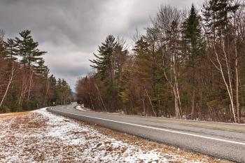 White Mountain Winter Road - HDR