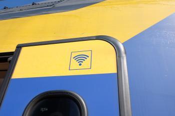 Wifi sign on train door