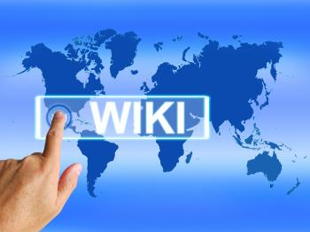 Wiki Map Means Internet Education and Encyclopaedia Websites