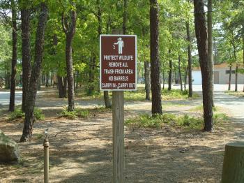 Wildlife Sign at Park