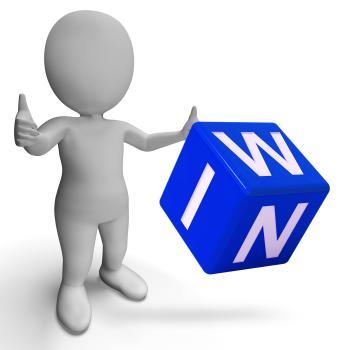 Win Dice Shows Success Winner Succeed