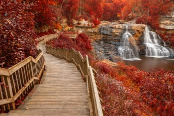Winding Blackwater Falls - Autumn Fantasy HDR