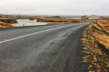 Winding Iceland Road - Hofdi