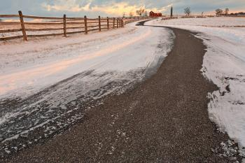 Winding Winter Road - HDR