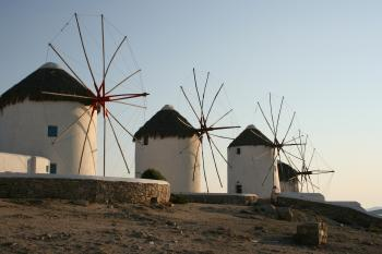 Windmills in Village
