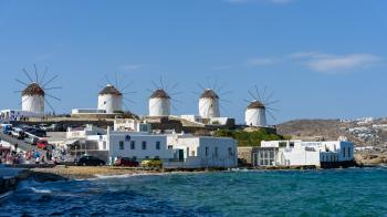 Windmills of Kato Mili, Mykonos