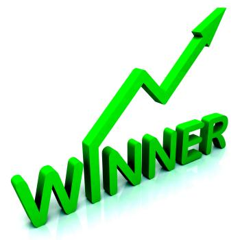 Winner Word Shows Successes And Victory