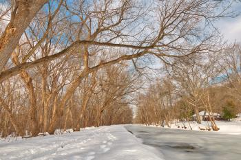 Winter Canal Trail - HDR