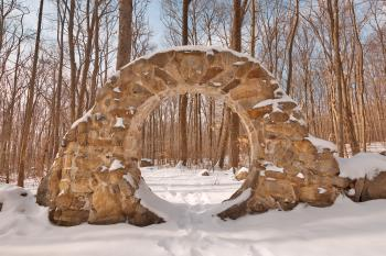 Winter Celtic Eye Trail - HDR