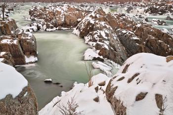 Winter Jade Falls - HDR