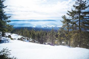 Winter Landscape Ochsenkopf Bayer Oberfranken