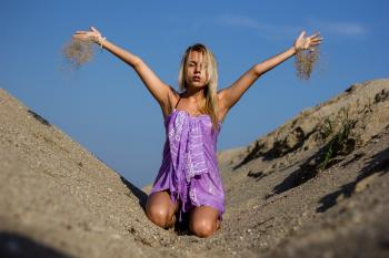 Woman on Sand