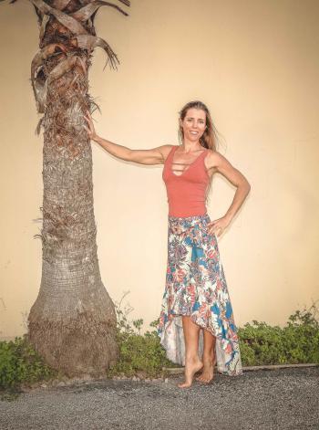 Woman Posing Near Tree