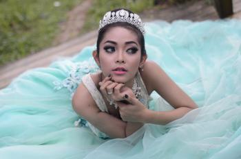 Woman Wearing Sleeveless Dress