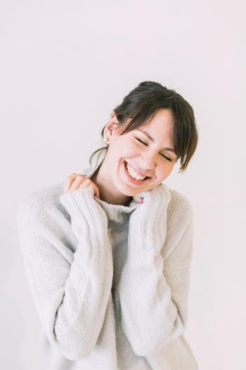 Woman Wearing White Turtle-neck Sweater