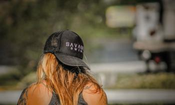 Women's Black Savage Baseball Cap