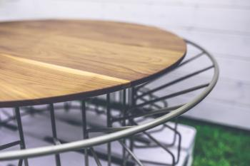 Wood and metal table