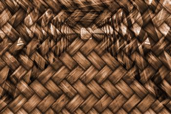 Wood Woven Covered Bridge