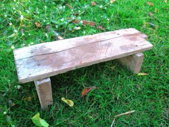 Wooden bench at a park