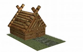 Wooden House 3D Render