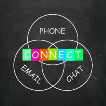 Words Means Connect by Phone Email or Chat