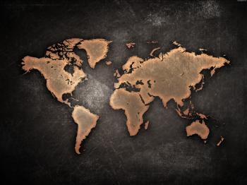 World Grunge Map
