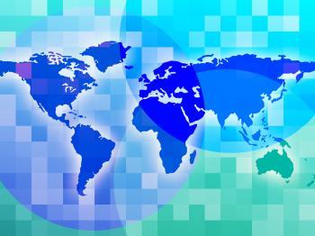 World Map Indicates Design International And Worldwide