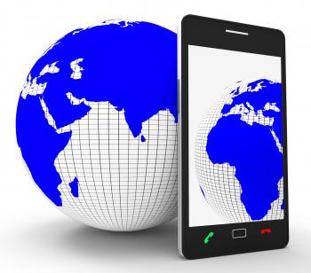Worldwide Phone Connection Means Web Site And Globalize