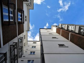 Worms Eyeview Photography of White and Brown Buildings