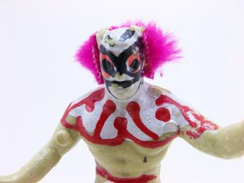 Wrestler clown toy