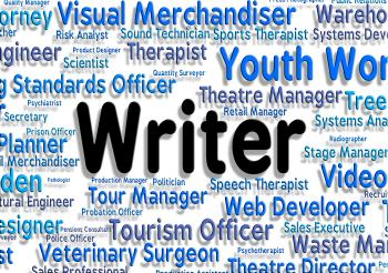 Writer Job Shows Text Career And Writers