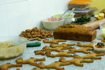 Xmas doggie buffet at Snouts