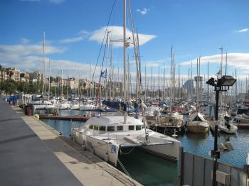 Yacht marina in Barcelona, Spain