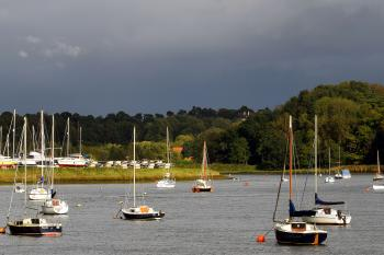 Yachts and boats on the River Deben