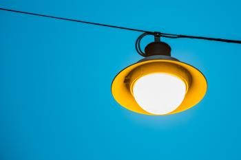 Yellow and Black Light Fixture