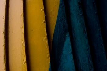 Yellow and blue wood