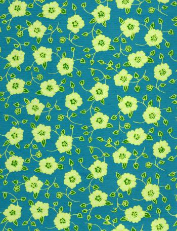 Yellow Flowers On Blue Paper