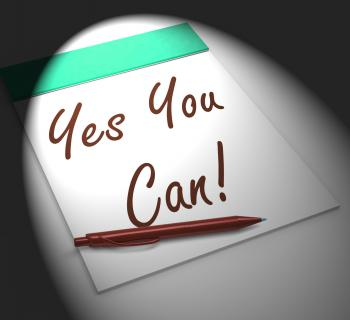 Yes You Can! Notebook Displays Positive Incentive And Persistence