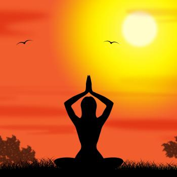 Yoga Pose Means Body Calm And Meditating